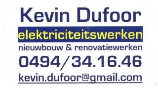 Elektriciteitswerken Kevin Dufoor
