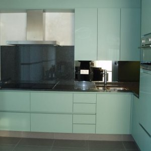 greeploze keuken met graniet te Vorselaar