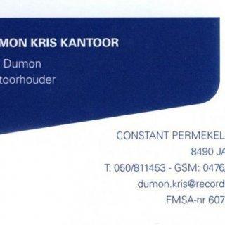 Dumon Kris Kantoor Record