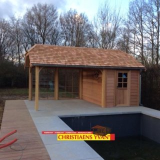 Cottage line tuinhuis/poolhouse in ceder