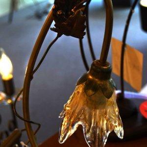bijzetlamp in floraal thema